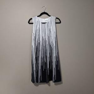 Calvin Klein   white & black midi dress